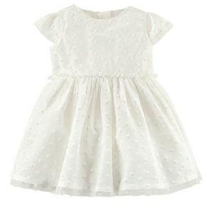 Carter's formal white dress